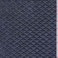 Navy Denim Look Quilted Knit