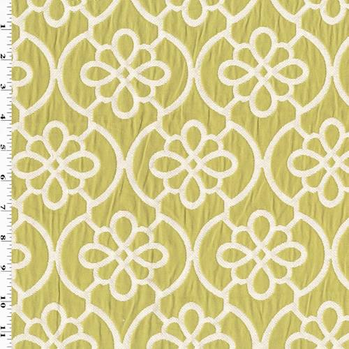 Apple Green White Ogee Matelasse Home Decorating Fabric Dfw54055 Fashion Fabrics