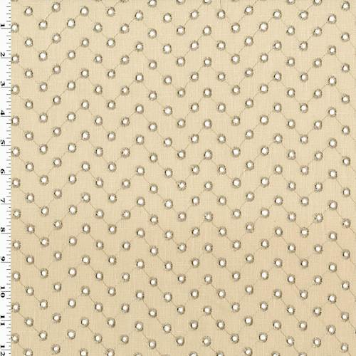 CostumeFabric by the Yard Curtain Taupe Upholstery Faux Linen Floral Embroidered Fabric  Beige Light Green  Drapery