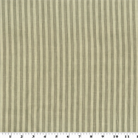 *2 1/2 YD PC--Taupe Brown Stripe Print Linen Home Decorating Fabric