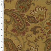 * 9 YD PC--Designer Beige/Multi Paisley Print Home Decorating Fabric