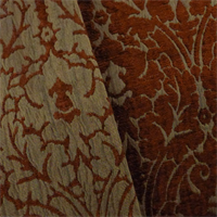 *5 1/2 YD PC--Amber/Brown Chenille Damask Home Decorating Fabric