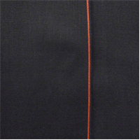 *1 1/8 YD PC--Night Black Cotton Japanese Selvedge Bull Denim
