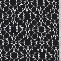 *2 YD PC--Black Geometric Lace