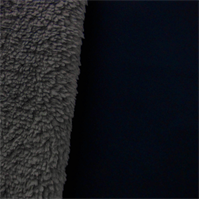 * 3/4 YD PC--Soft Shell Sherpa Fleece - Navy/Gray
