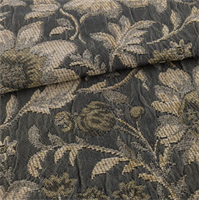 *7 YD PC--Gray/Beige Floral Chenille Matelasse Decorating Fabric