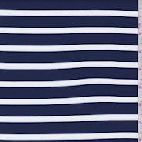 Navy/White Stripe Brushed Activewear
