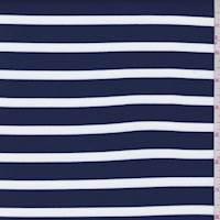 Navy/White Stripe Brushed Activewear