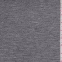 Dark Heather Grey Rayon Jersey Knit