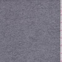 Dark Heather Grey Slubbed T-Shirt Knit