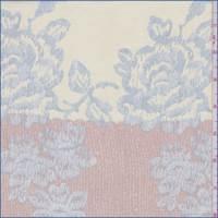 *3 1/4 YD PC--Pink Clay Floral Silk Georgette