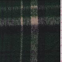 *1 1/2 YD PC--Emerald/Ink Plaid Brushed Jacketing