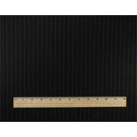 *3 YD PC--Black/Beige Fulled Wool Pinstripe Suiting