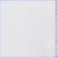 *2 3/8 YD PC--White Polyester Thermal Knit
