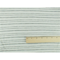 *1 YD PC--Cream White/ Grey Sparkle Striped Slub Jersey Knit