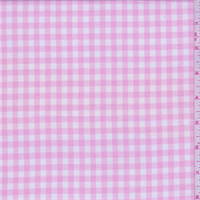 *2 1/4 YD PC--Baby Pink/White Check Cotton Shirting