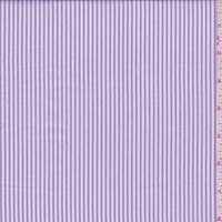 Lilac/White Ticking Stripe Shirting
