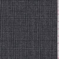 Black/Grey Glen Plaid Wool Tweed
