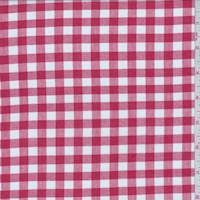 *3 1/8 YD PC--Cherry Red Gingham Check Lawn