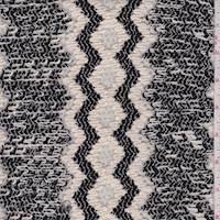 Black/Ivory Chevron Sweater Knit