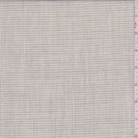 Oatmeal/Taupe Mini Check Linen Blend