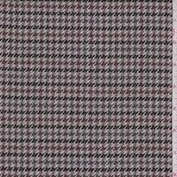 Taupe Multi Houndstooth Wool Jacketing