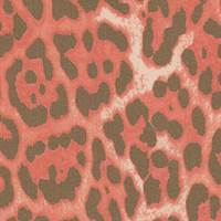 *5 3/8 YD PC--Reddish Orange Print Silk Chiffon