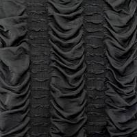 Night Black Ruche Ruffle Knit