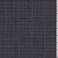 Black/Grey Multi Plaid Wool Suiting