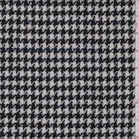 Black/White Houndstooth Wool