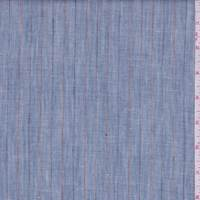 Vintage Denim Blue Pinstripe Linen