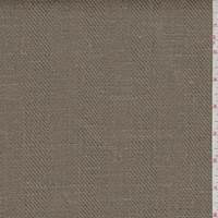 Golden Tobacco Twill Stripe Linen Suiting