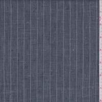 Slate Blue/Grey Pinstripe Linen