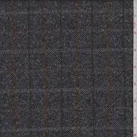 Pewter/Clay Plaid Boucle Wool Jacketing