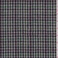 Grey Multi Herringbone Check Wool Jacketing