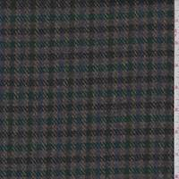 Mocha Multi Plaid Wool Jacketing