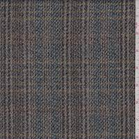 Taupe/Beige Plaid Wool Jacketing