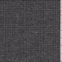 Nickel Glenplaid Wool Jacketing