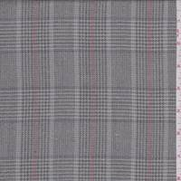 Taupe Plaid Rayon Blend Suiting