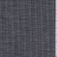 Heather Black Stripe Linen Blend Suiting