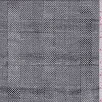 Grey/Charcoal Plaid Linen Blend Suiting