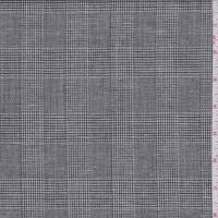 Charcoal Glen Plaid Wool Blend Suiting