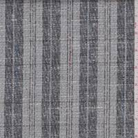Grey/Slate Stripe Check Linen Blend Suiting