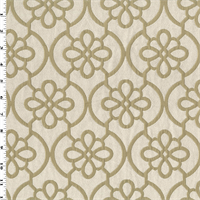 *2 3/4 YD PC--Ivory/Beige Ogee Matelasse Home Decorating Fabric
