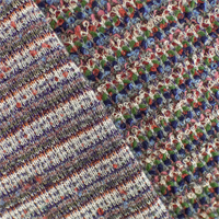 *1 1/8 YD PC--Multi Wool Blend Novelty Textured Sweater Knit