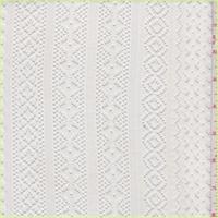 *2 YD PC--Off White Stripe Lace