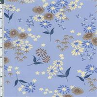 *3 YD PC--Blue Floral Chiffon