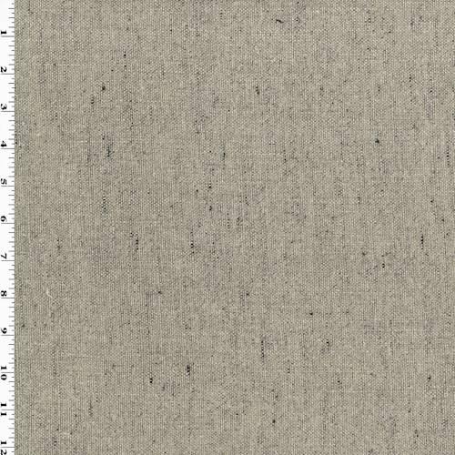 Stonewash Taupe Libeco Linen Changeant Flax Decor Fabric