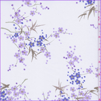 *5 YD PC--White/Orchid/Pink Purple Floral Georgette