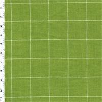 *8 YD PC--Designer Cotton Kiwi Green Windowpane Home Decorating Fabric